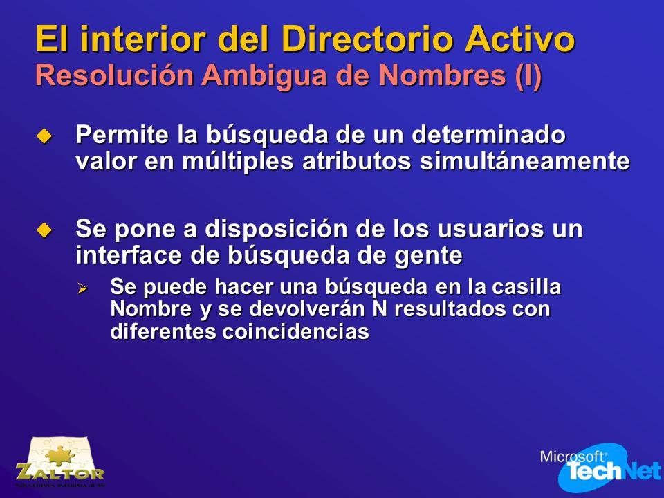 El interior del Directorio Activo Resolución Ambigua de Nombres (I)