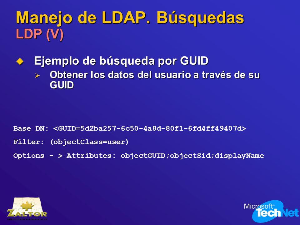 Manejo de LDAP. Búsquedas LDP (V)