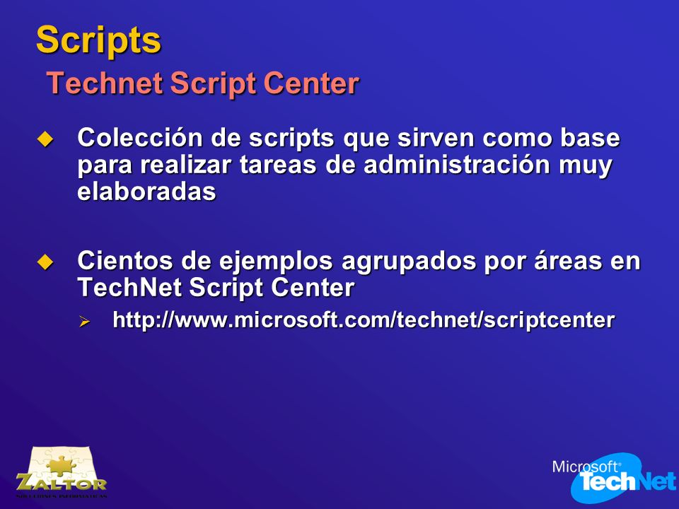 Scripts Technet Script Center