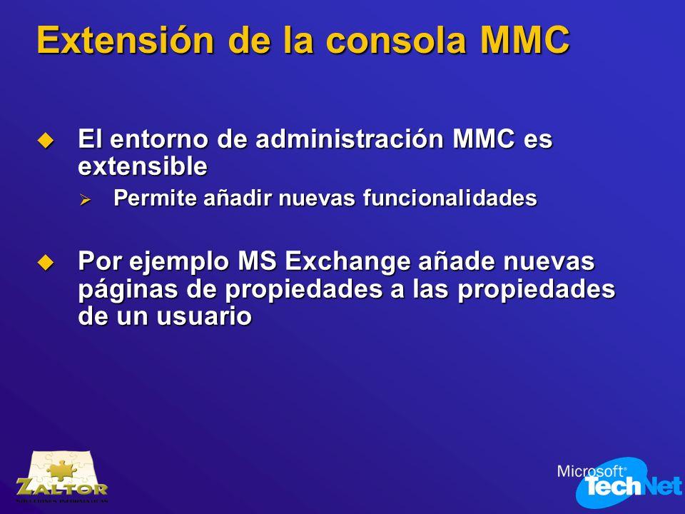 Extensión de la consola MMC
