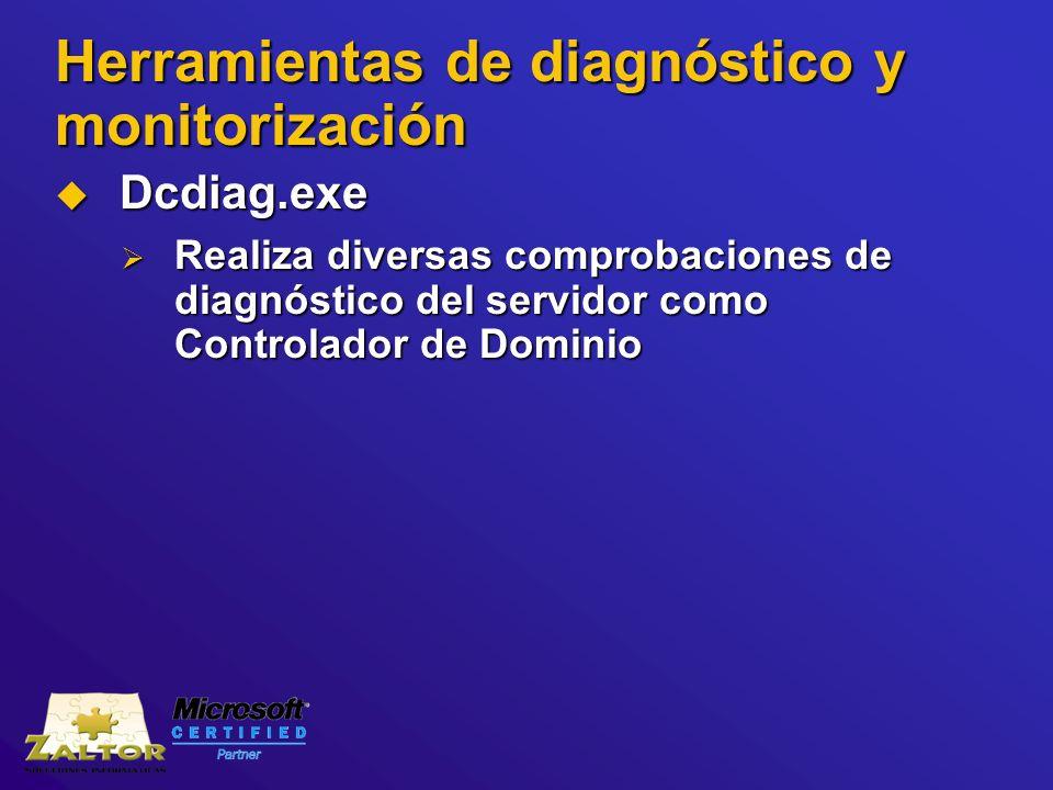 Herramientas de diagnóstico y monitorización