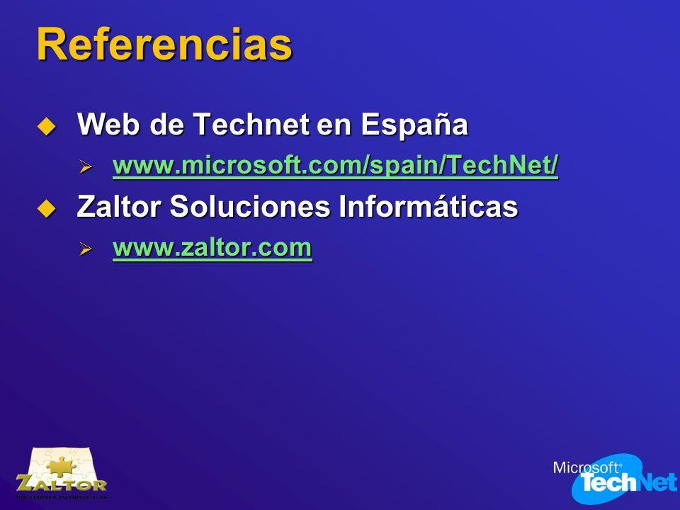 Referencias Web de Technet en España Zaltor Soluciones Informáticas