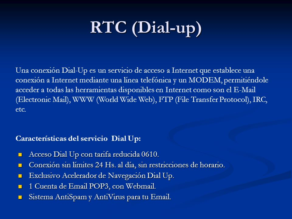 RTC (Dial-up)