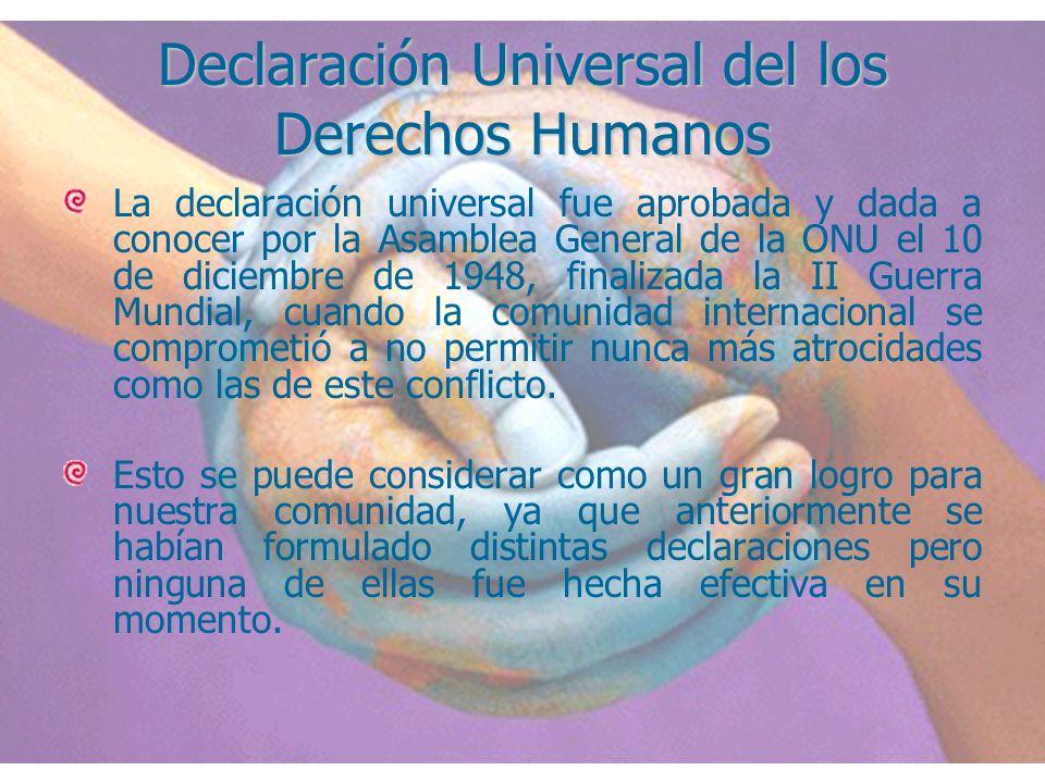 Declaración Universal del los Derechos Humanos