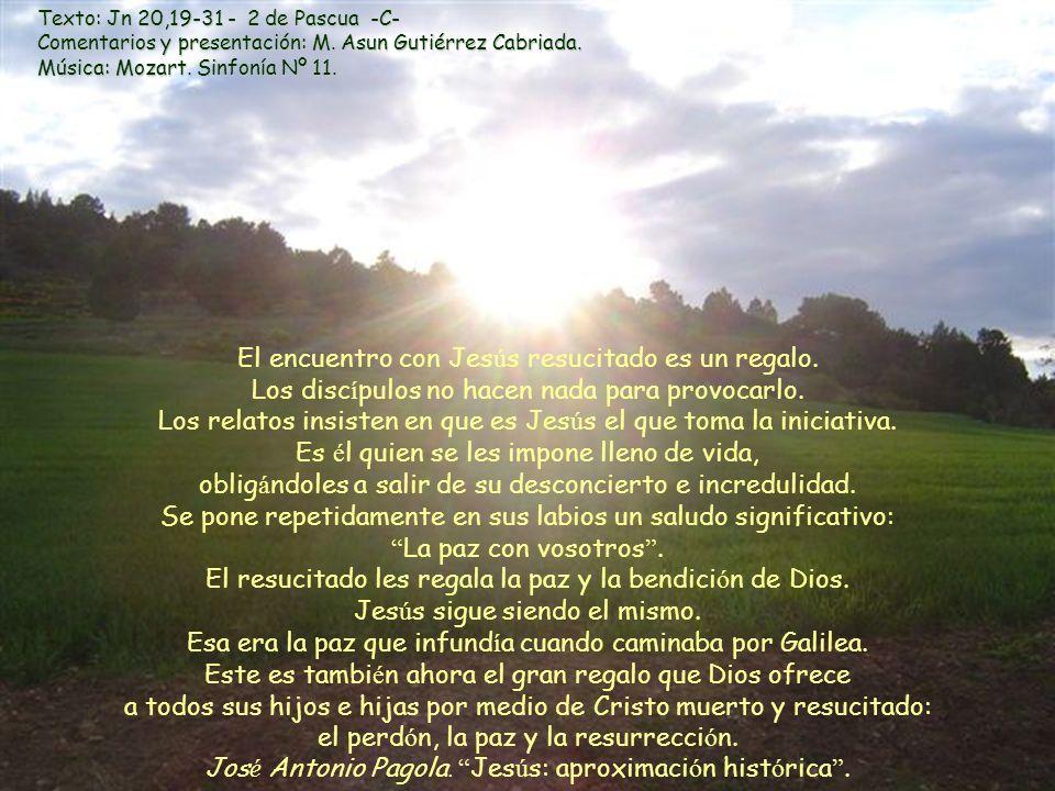 Texto: Jn 20,19-31 - 2 de Pascua -C- Comentarios y presentación: M