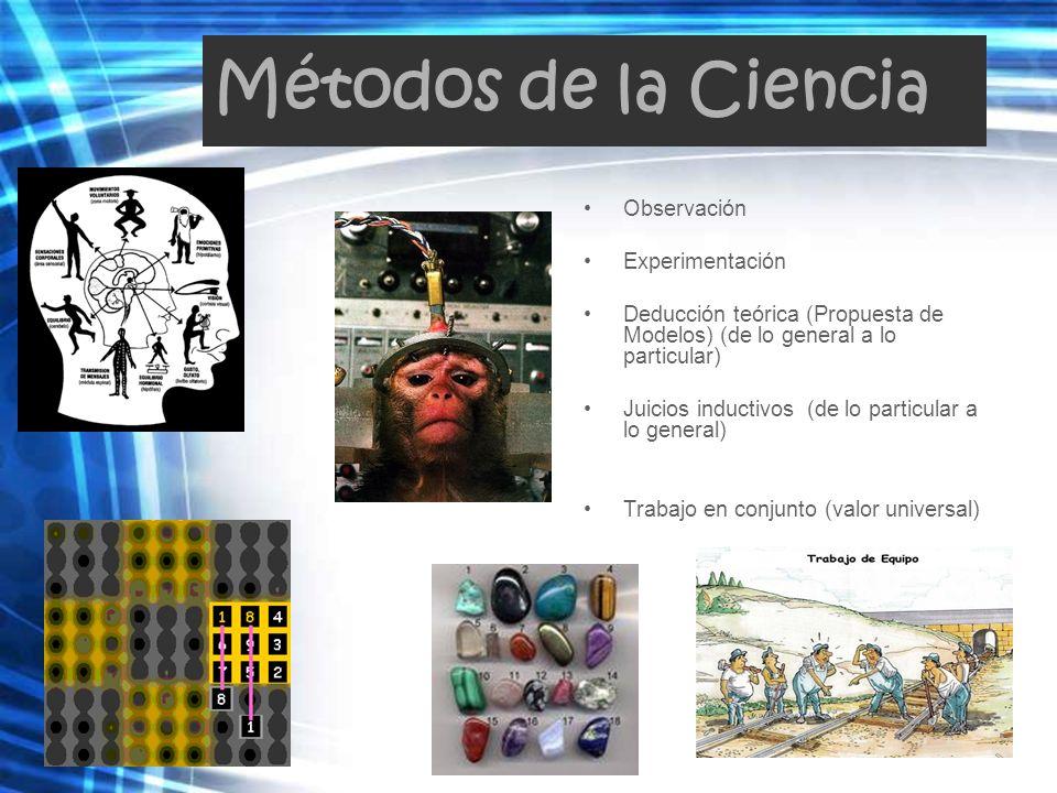 Métodos de la Ciencia Observación Experimentación