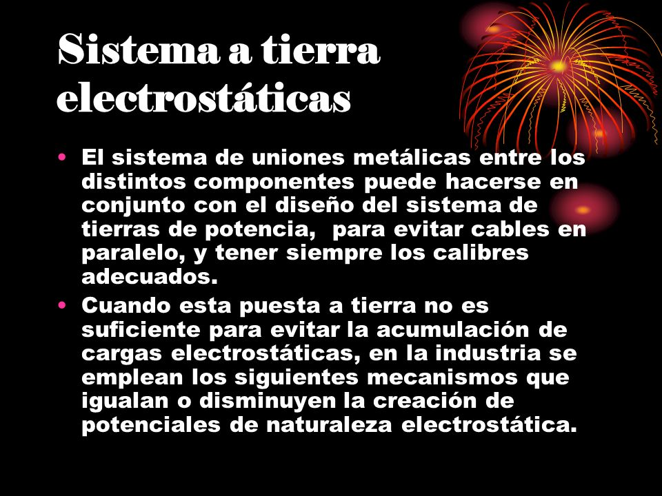 Sistema a tierra electrostáticas