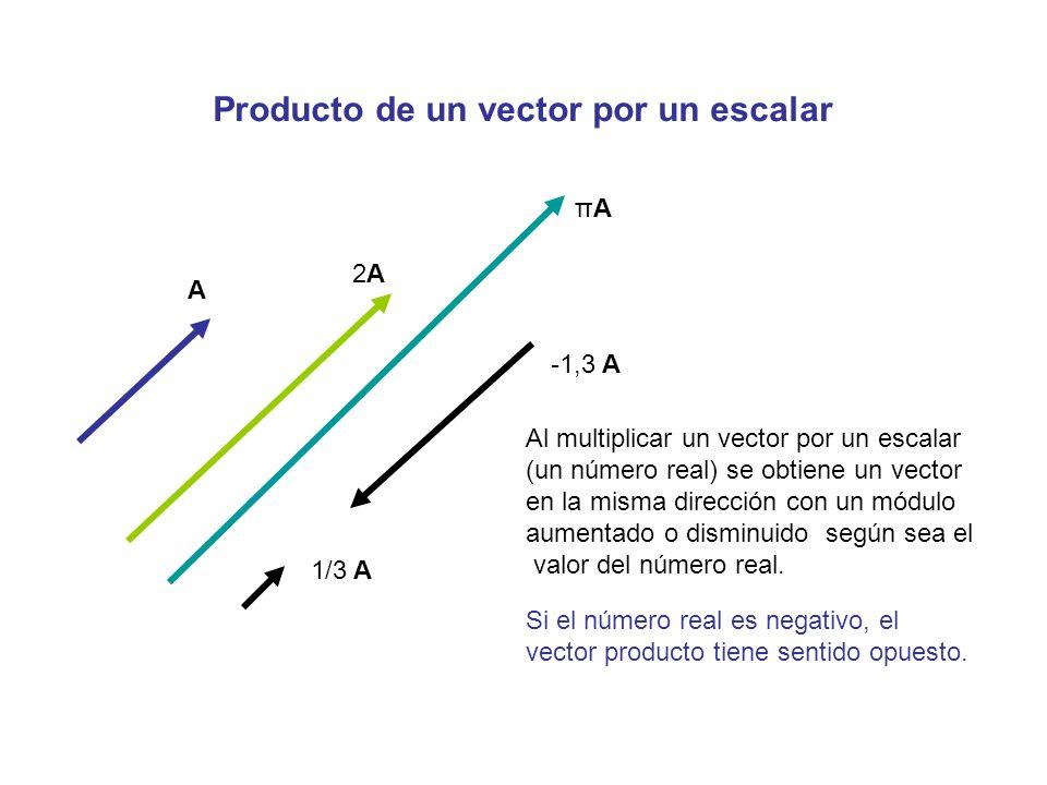 Producto de un vector por un número real
