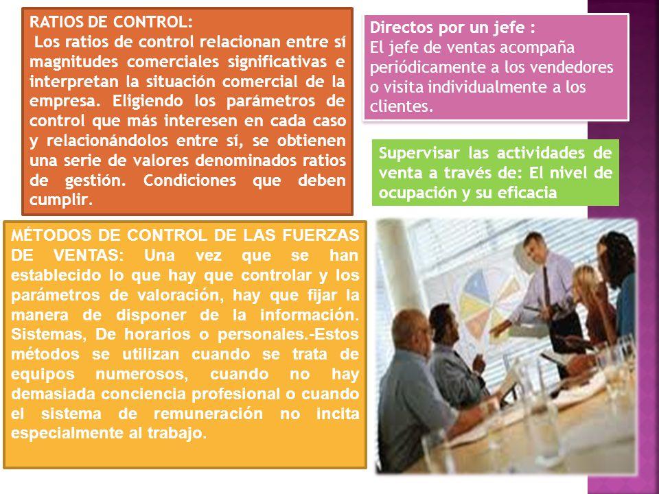 RATIOS DE CONTROL: