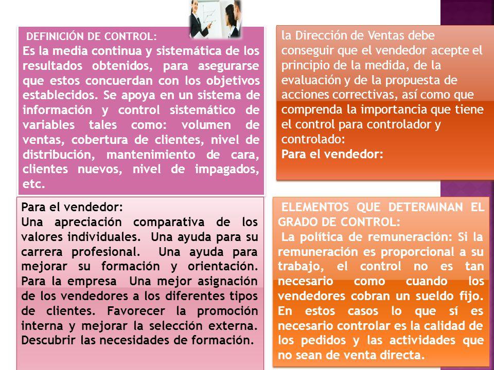 DEFINICIÓN DE CONTROL: