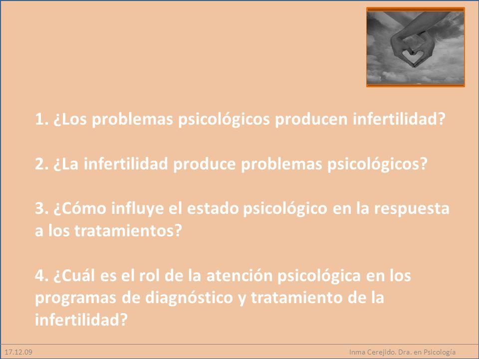 1. ¿Los problemas psicológicos producen infertilidad