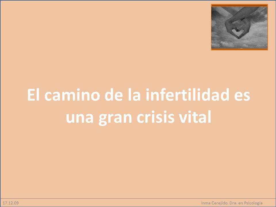 El camino de la infertilidad es una gran crisis vital
