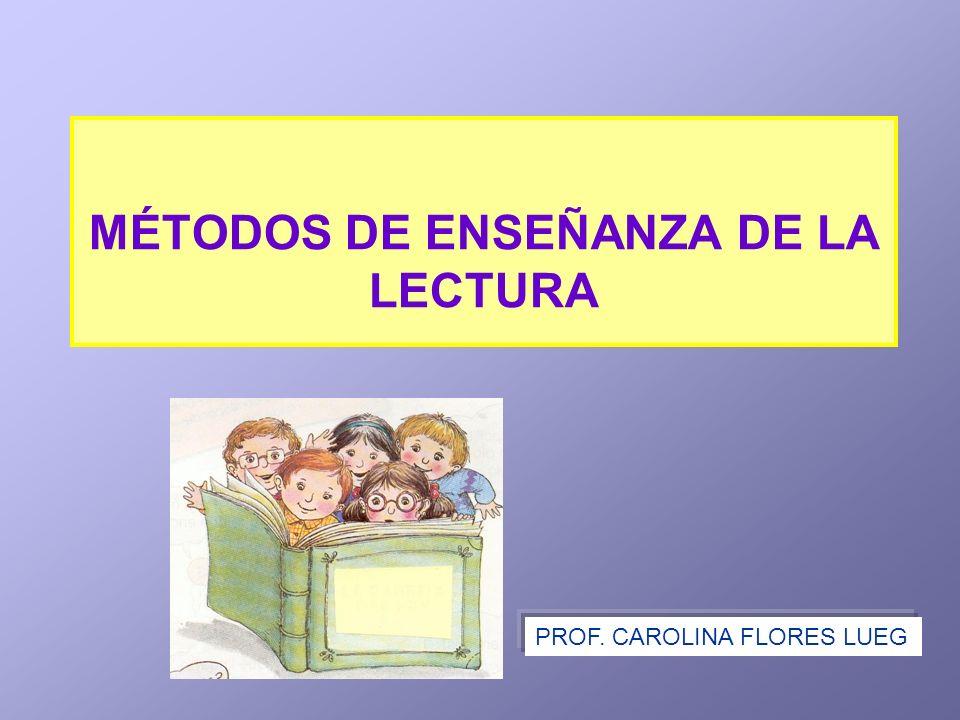 MÉTODOS DE ENSEÑANZA DE LA LECTURA