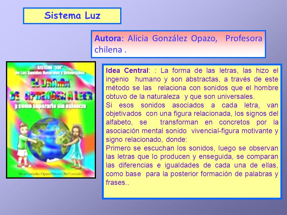 Autora: Alicia González Opazo, Profesora chilena .
