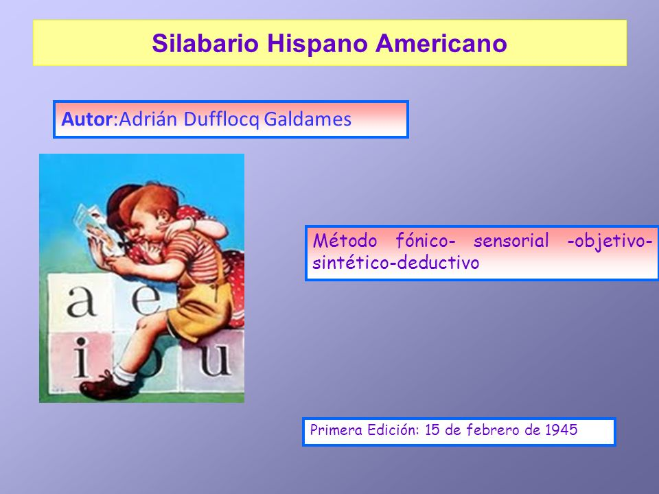 Silabario Hispano Americano