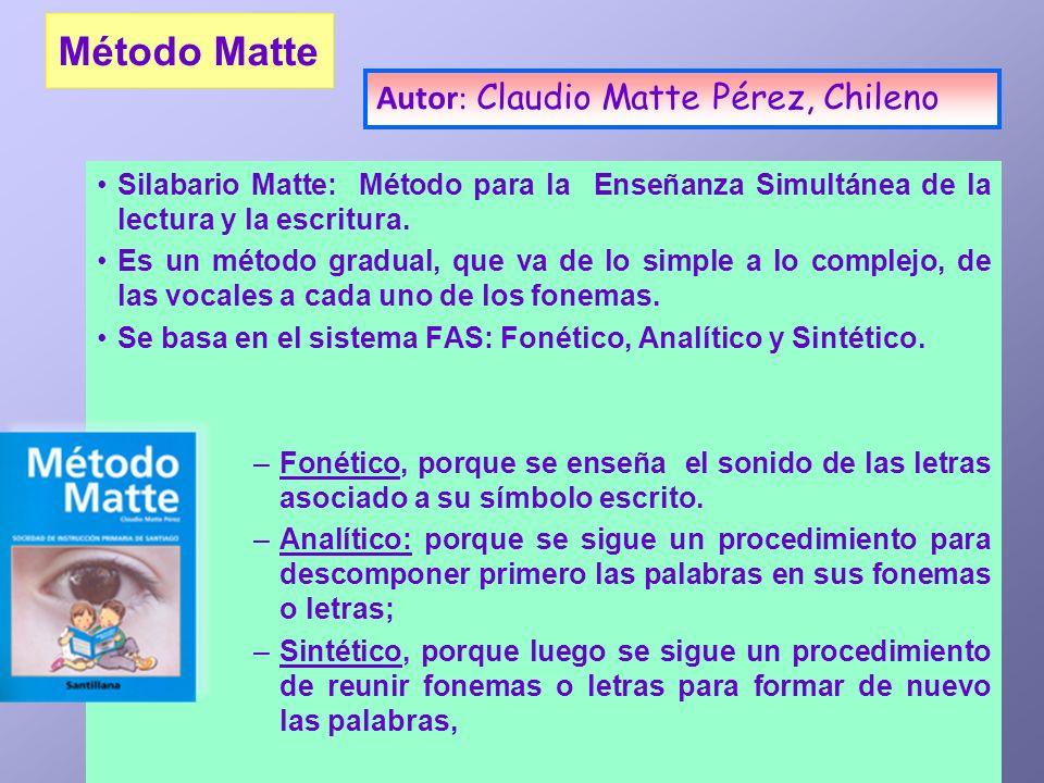 Método Matte Autor: Claudio Matte Pérez, Chileno