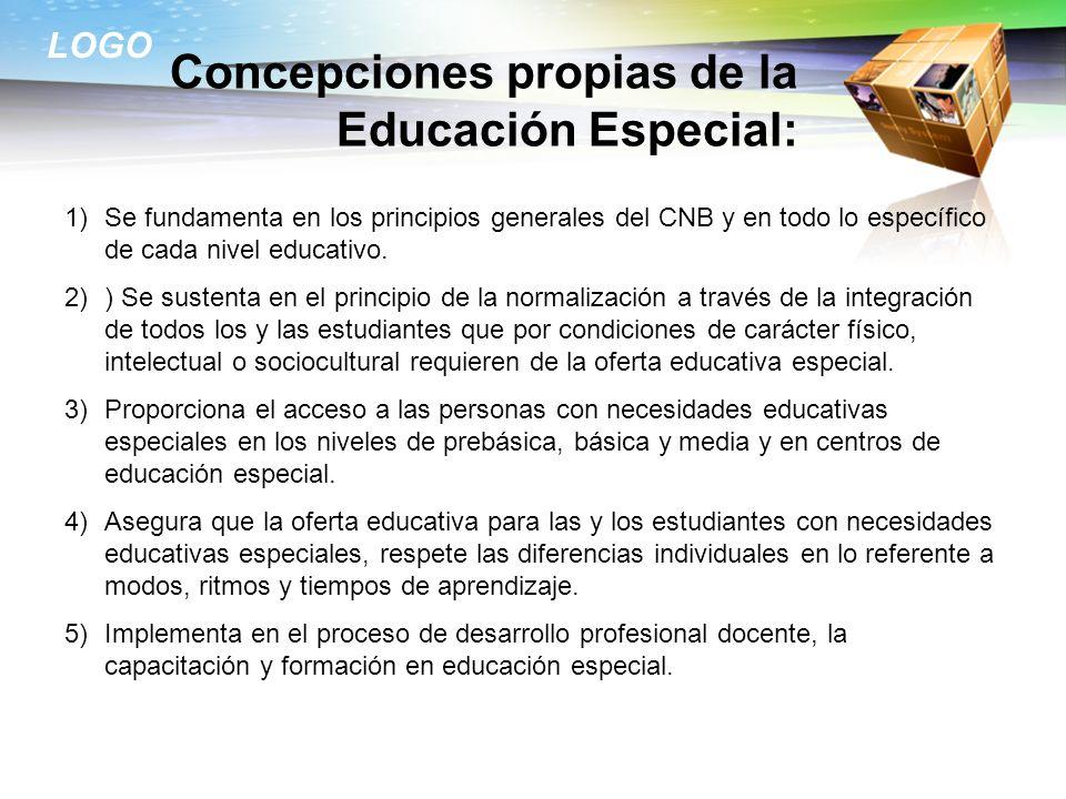 Concepciones propias de la Educación Especial: