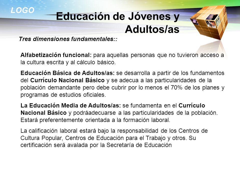 Educación de Jóvenes y Adultos/as