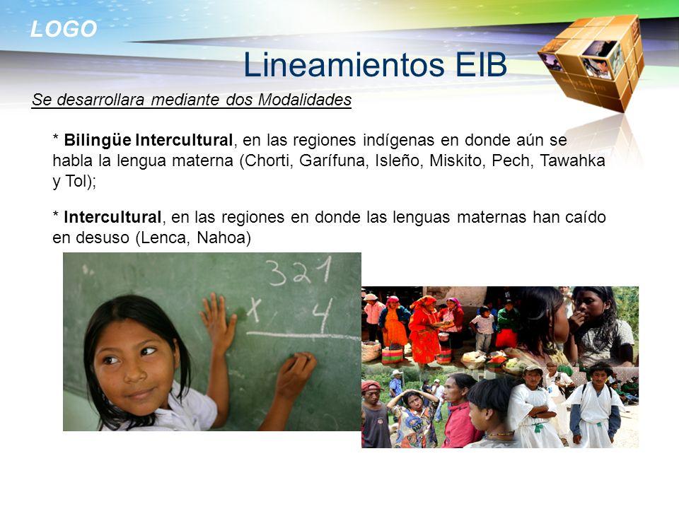 Lineamientos EIB Se desarrollara mediante dos Modalidades