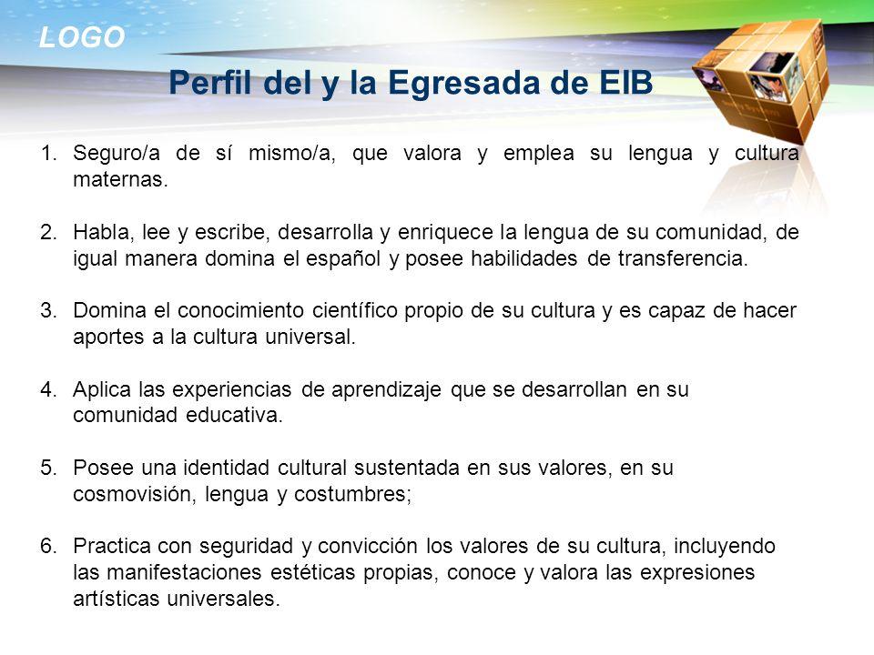 Perfil del y la Egresada de EIB