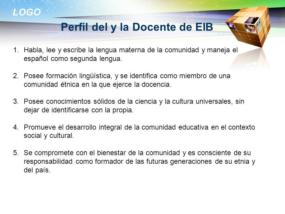 Perfil del y la Docente de EIB
