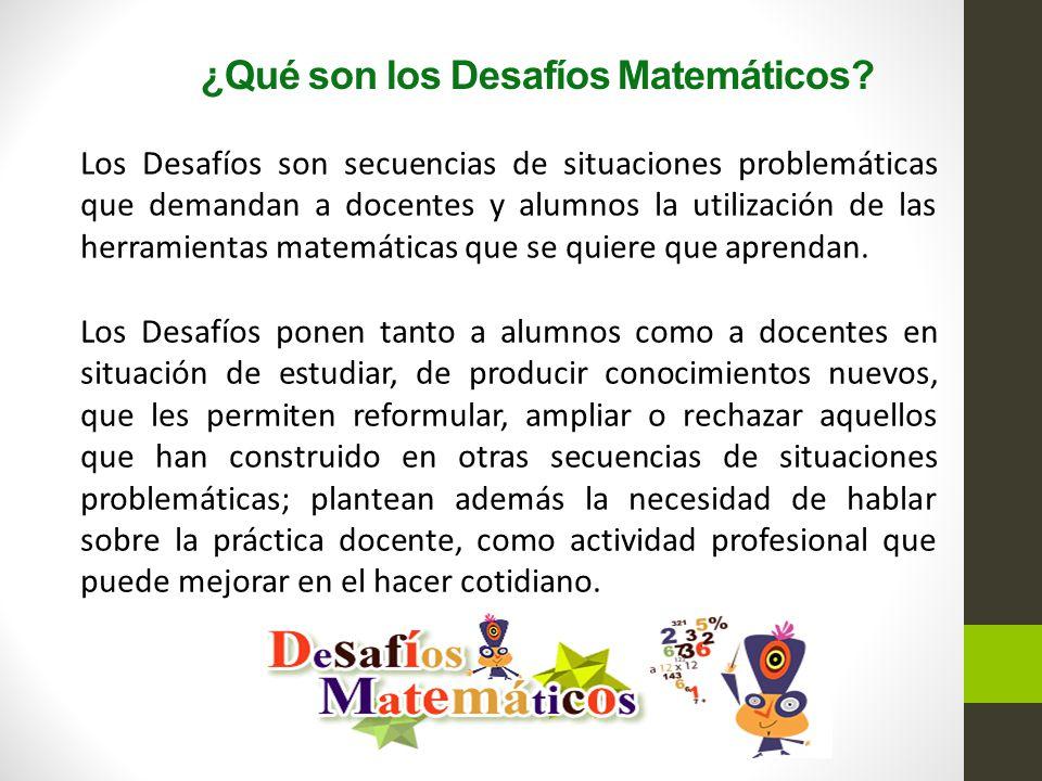¿Qué son los Desafíos Matemáticos