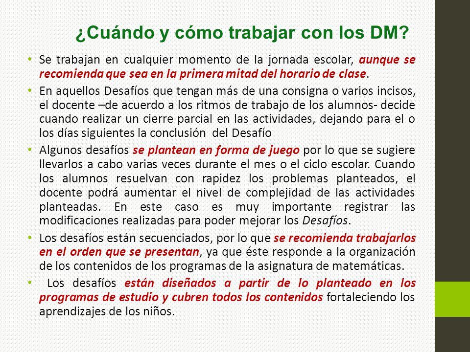 ¿Cuándo y cómo trabajar con los DM