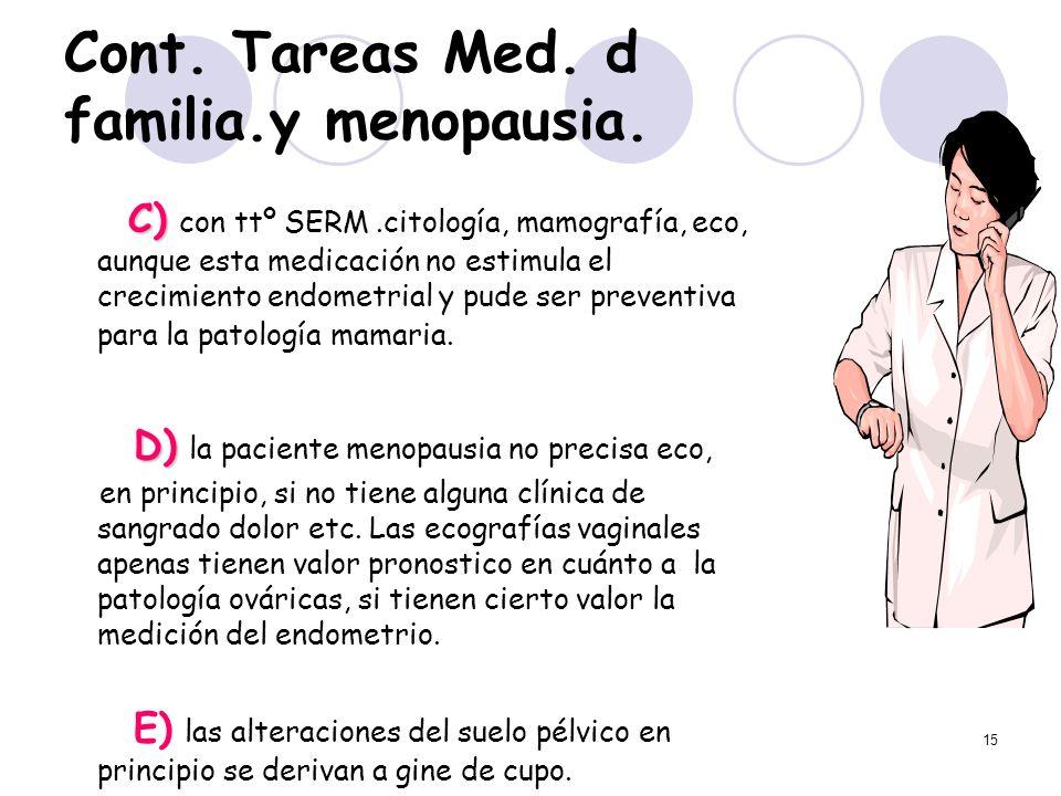 Cont. Tareas Med. d familia.y menopausia.