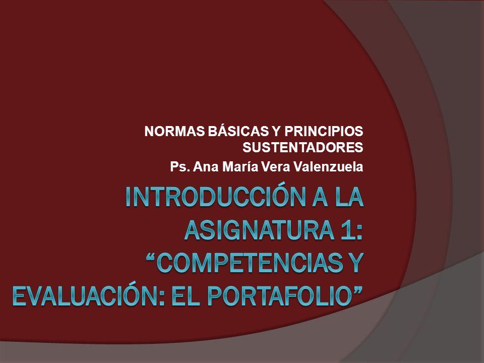 NORMAS BÁSICAS Y PRINCIPIOS SUSTENTADORES