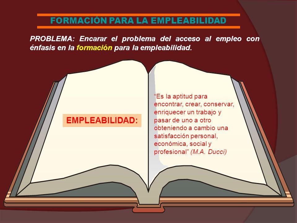 FORMACIÓN PARA LA EMPLEABILIDAD