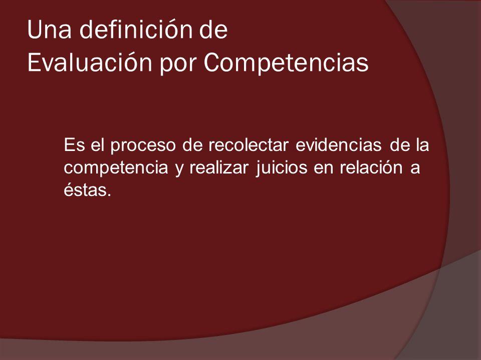 Una definición de Evaluación por Competencias