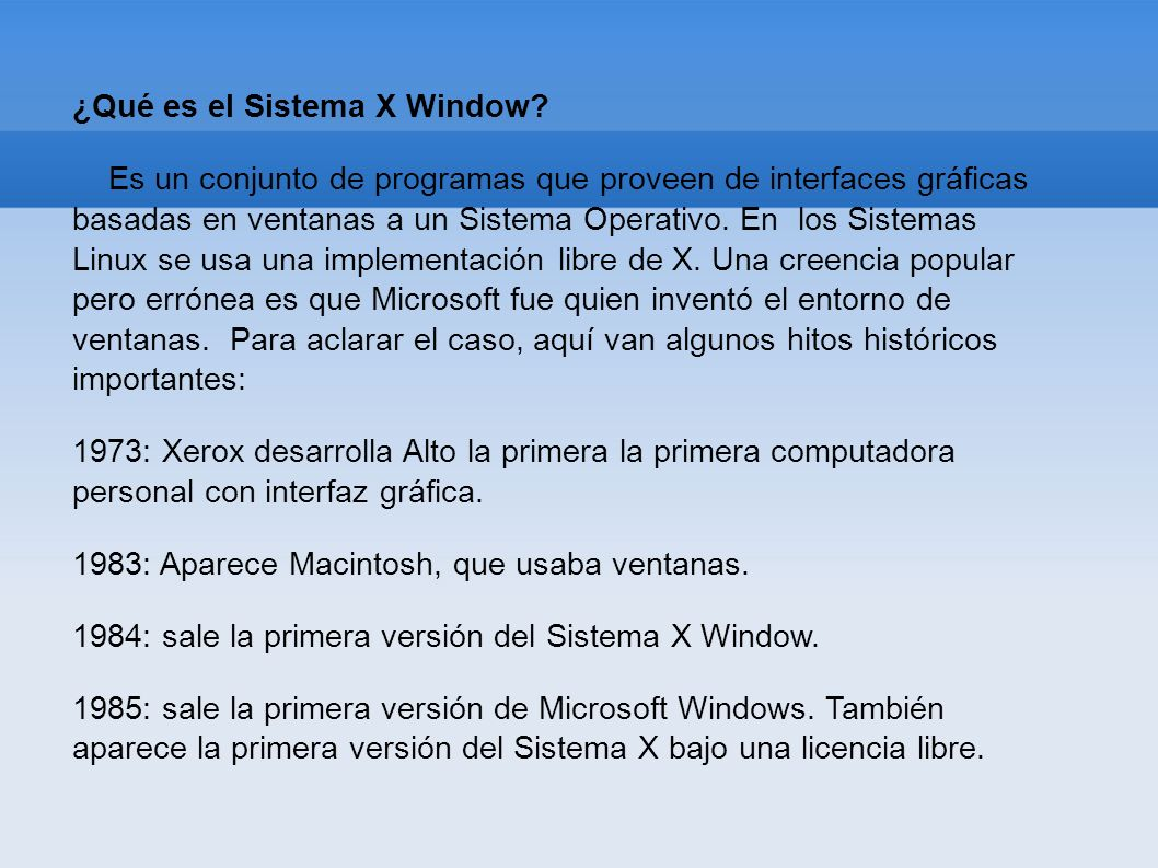 ¿Qué es el Sistema X Window