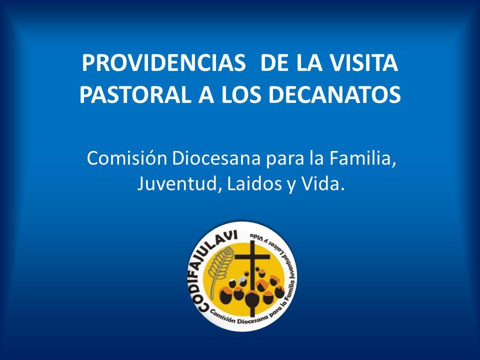 PROVIDENCIAS DE LA VISITA PASTORAL A LOS DECANATOS