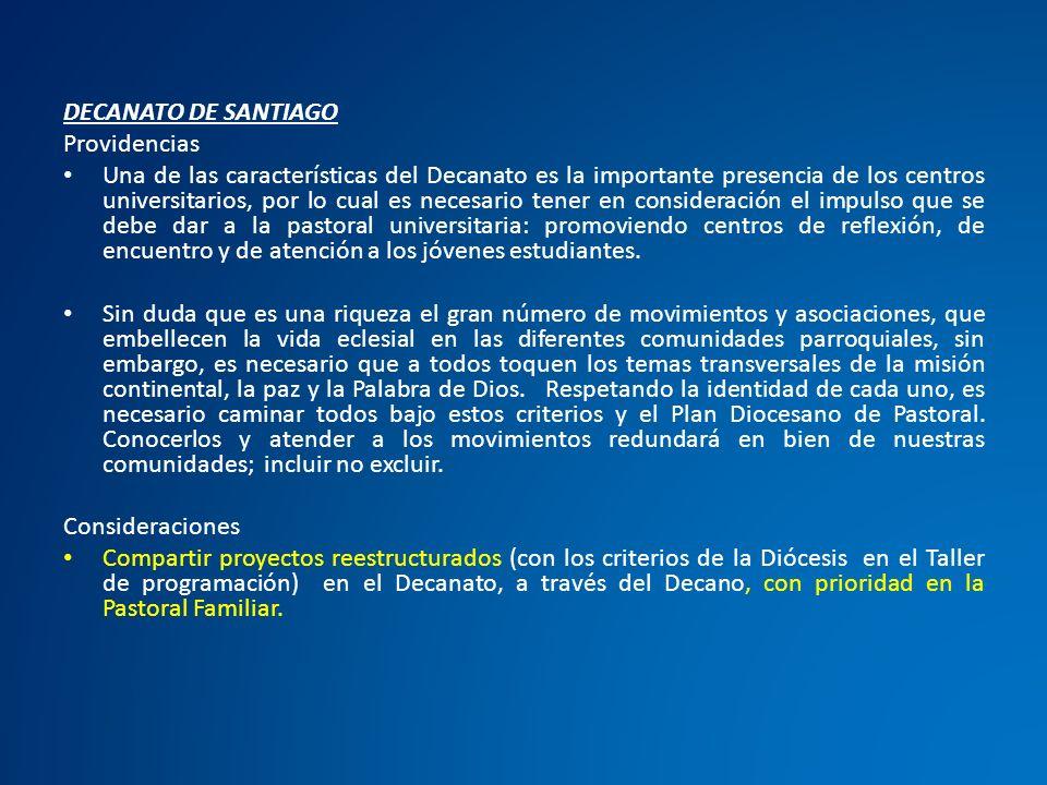 DECANATO DE SANTIAGO Providencias.