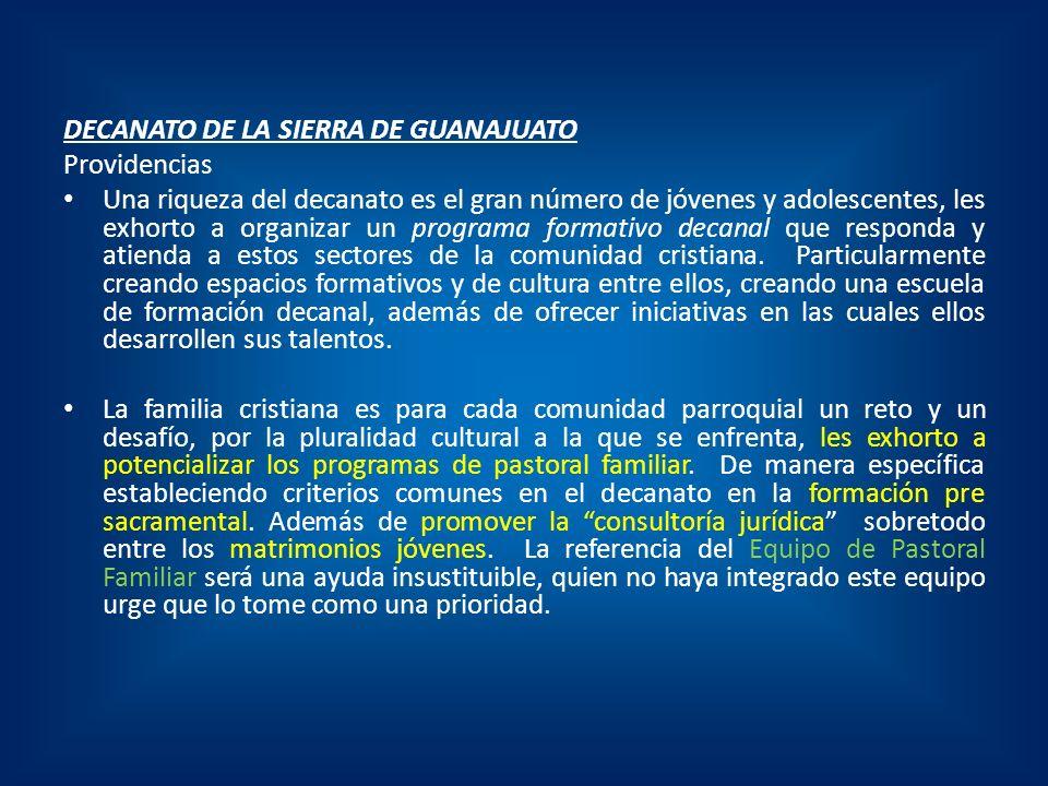 DECANATO DE LA SIERRA DE GUANAJUATO