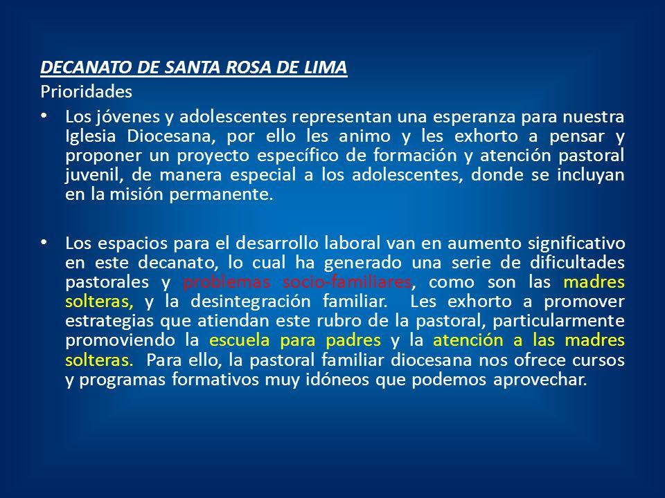 DECANATO DE SANTA ROSA DE LIMA