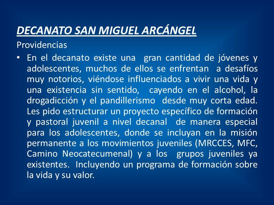 DECANATO SAN MIGUEL ARCÁNGEL