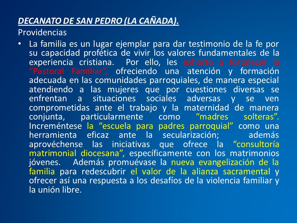 DECANATO DE SAN PEDRO (LA CAÑADA).