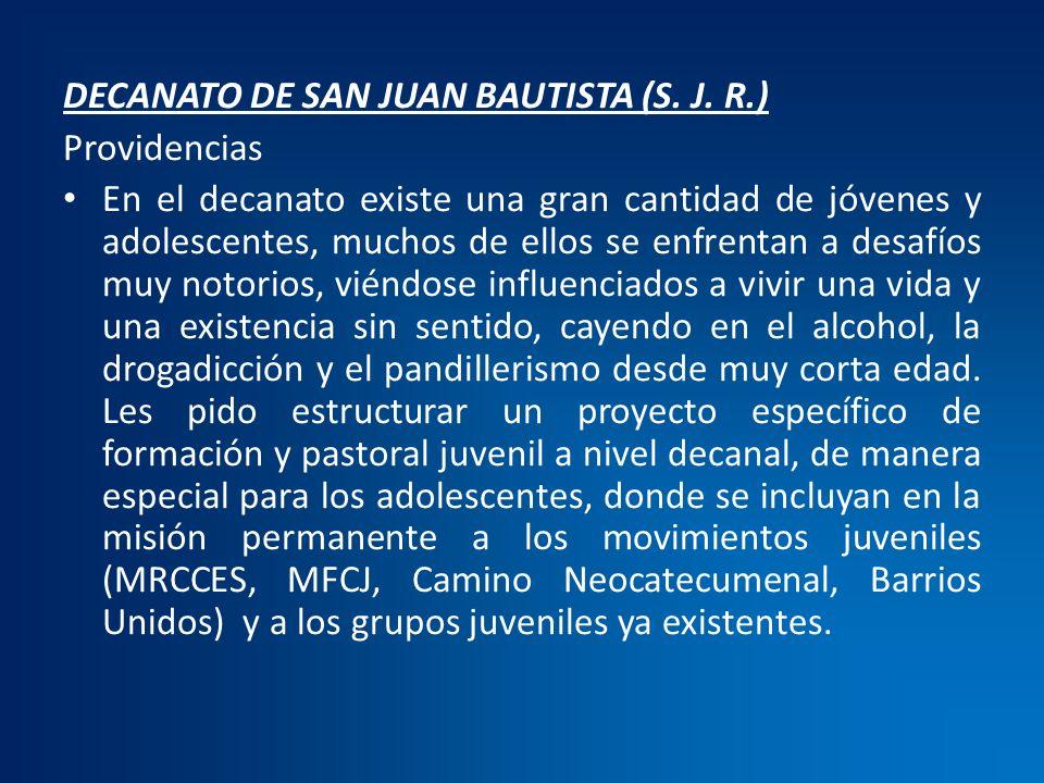 DECANATO DE SAN JUAN BAUTISTA (S. J. R.)
