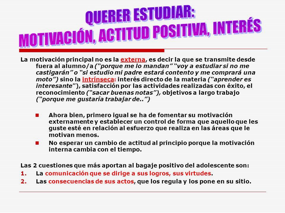 MOTIVACIÓN, ACTITUD POSITIVA, INTERÉS
