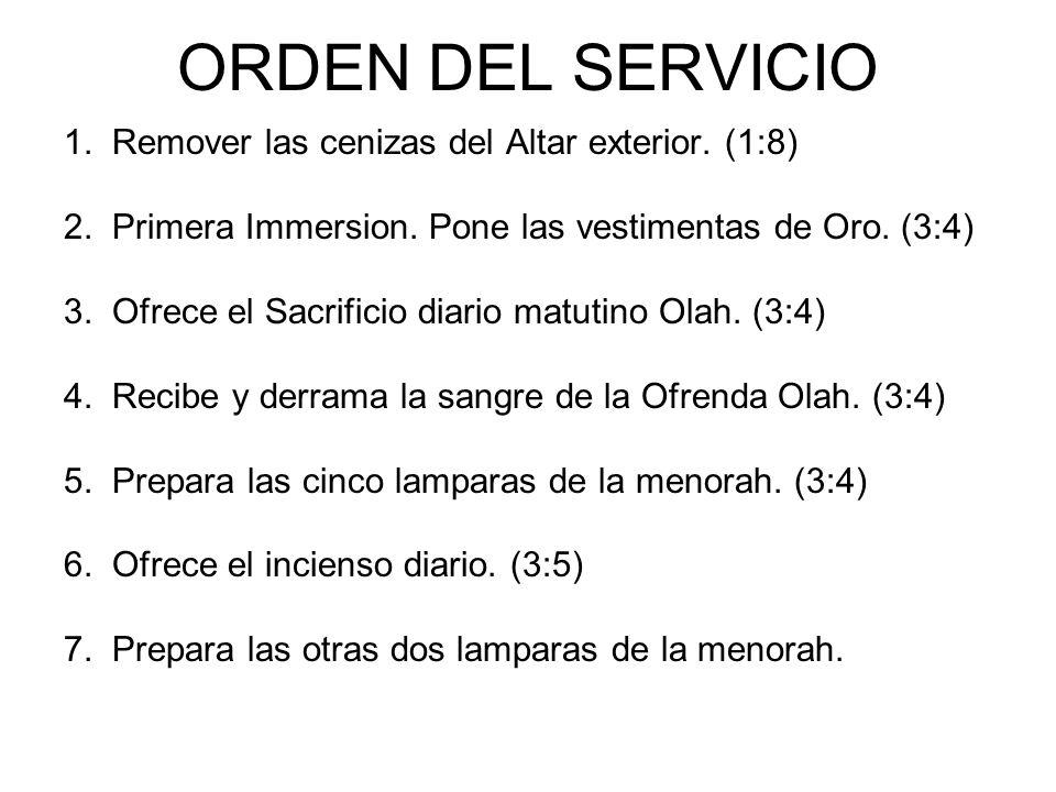ORDEN DEL SERVICIO 1. Remover las cenizas del Altar exterior. (1:8)