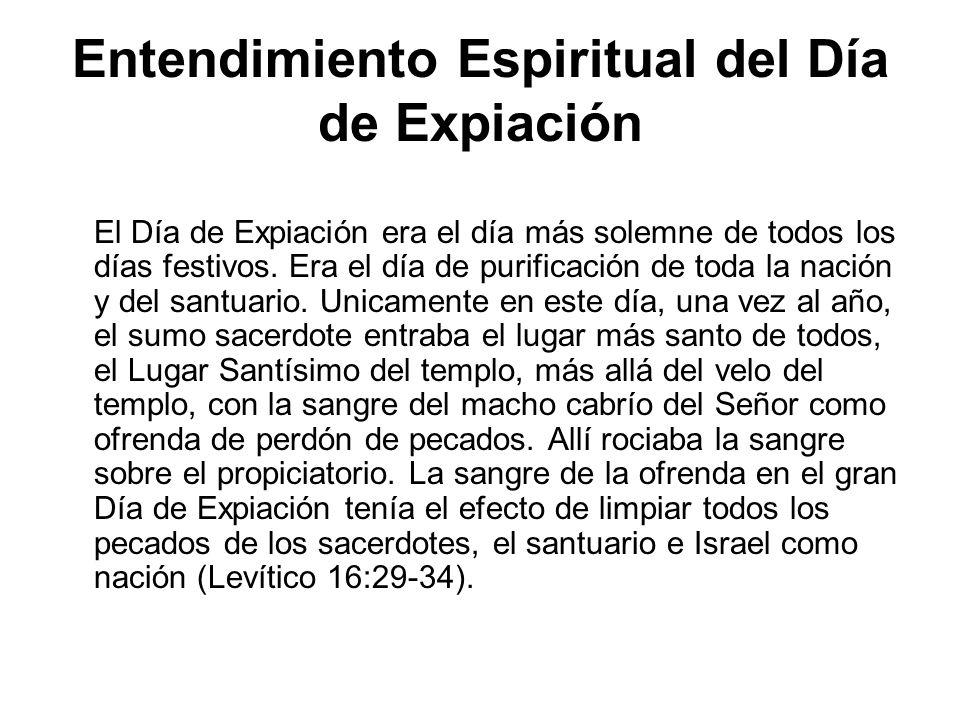 Entendimiento Espiritual del Día de Expiación