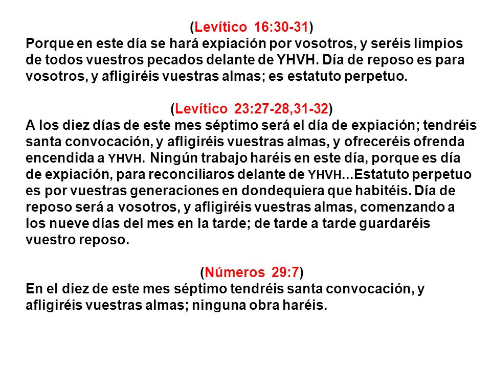 (Levítico 16:30-31)