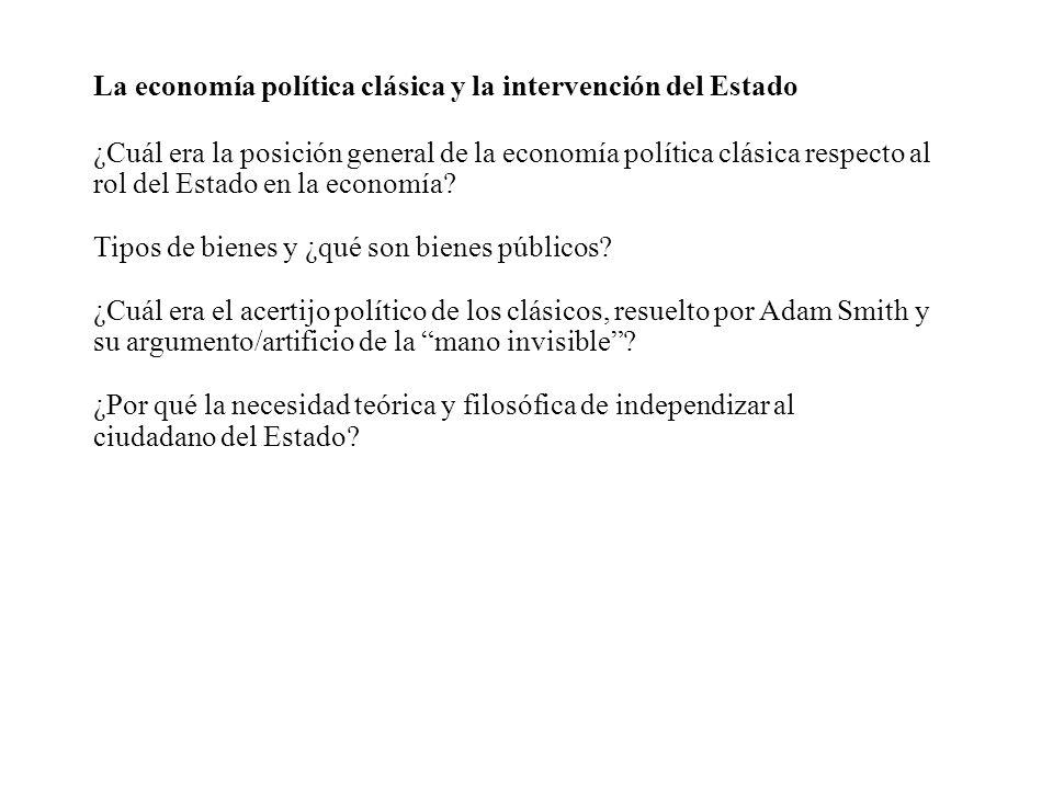 La economía política clásica y la intervención del Estado