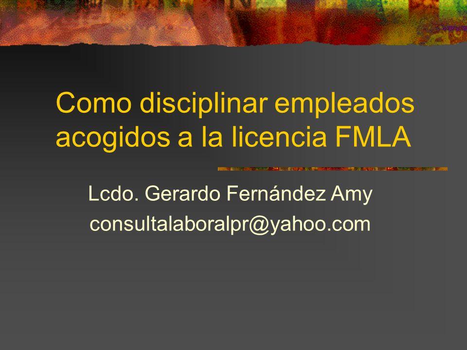 Como disciplinar empleados acogidos a la licencia FMLA