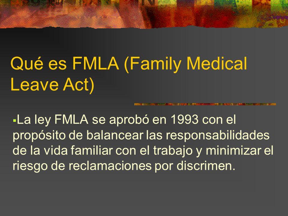 Qué es FMLA (Family Medical Leave Act)