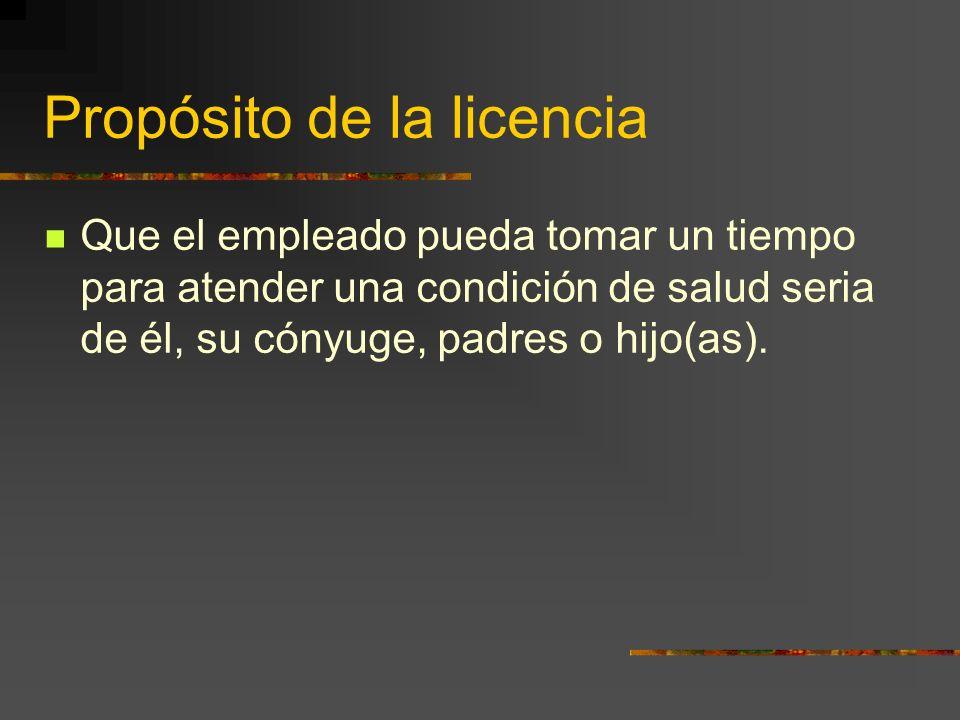 Propósito de la licencia