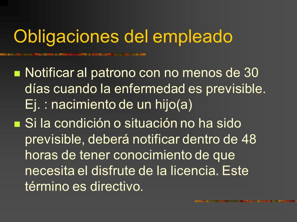Obligaciones del empleado