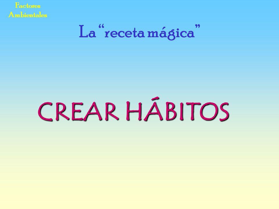 Factores Ambientales La receta mágica CREAR HÁBITOS