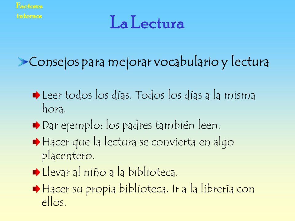 La Lectura Consejos para mejorar vocabulario y lectura